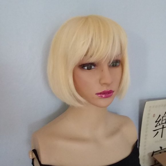 Accessories Blonde Human Hair Wig 100 Human Hair Wig With B Poshmark